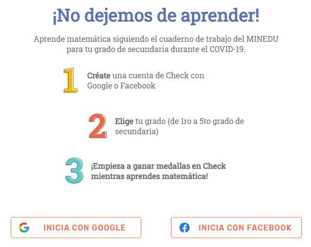Inicia con Check MINEDU